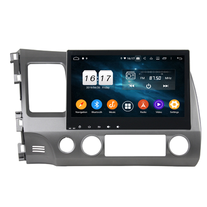 KLYDE KD-1057 Android 10.0 Car Video Player with GPS DSP Steering Deckless Wheel Control for CIVIC 2006-2011