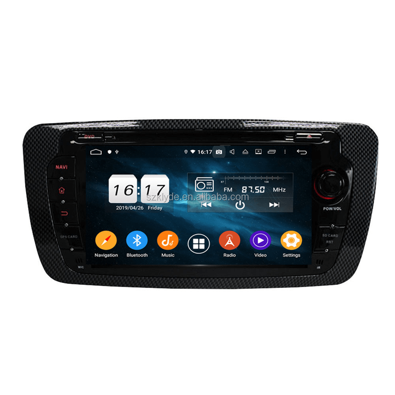 KLYDE KD-1925 OEM ODM Car Radio Player Car Multimedia System with GPS for SEAT IBIZA 2009-2013
